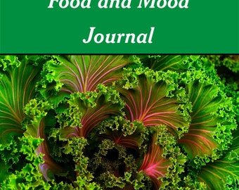 Food and Mood Journal | 7 Day Printable Journal | One Week Daily Food Log | Instant Download | Health and Wellness | Food Diary