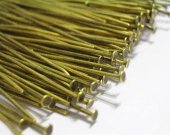 "50 Pieces Gold Head Pins 21 Gauge 40mm Head Pins 1.75"" Head Pins Findings 21 Gauge Head Pins Jewelry Making Supplies"