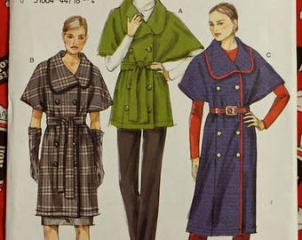 Plus Size VOGUE COAT Sewing Pattern Easy Double Breasted Jacket Coats L-XXL 8861
