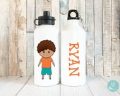 Kids Water Cup Personalized Children Waterbottles for Kids, Personalised Water Bottle for Kids, Personalized Gift for Kids, 20 oz Aluminum