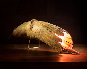 """hardwood table sconce creature 9"""" long"""