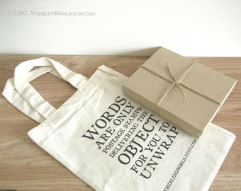 Add a Kraft Gift Box, tied with string - with optional fountain pen & gift bag