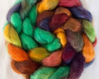 Teeswater, hand painted tops, felting projects, hand dyed roving, dolls hair, Handspinning, spindling, Core spinning