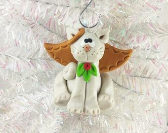 Angel Cat Christmas Ornament - Cat Angel Ornament - Kitty Angel Christmas Ornament - Cat Lovers Gift - Pet Ornament - Cat Owners Gift - 5296