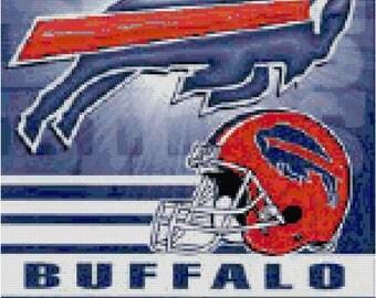 NFL Buffalo Bills Banner Counted Cross Stitch Pattern
