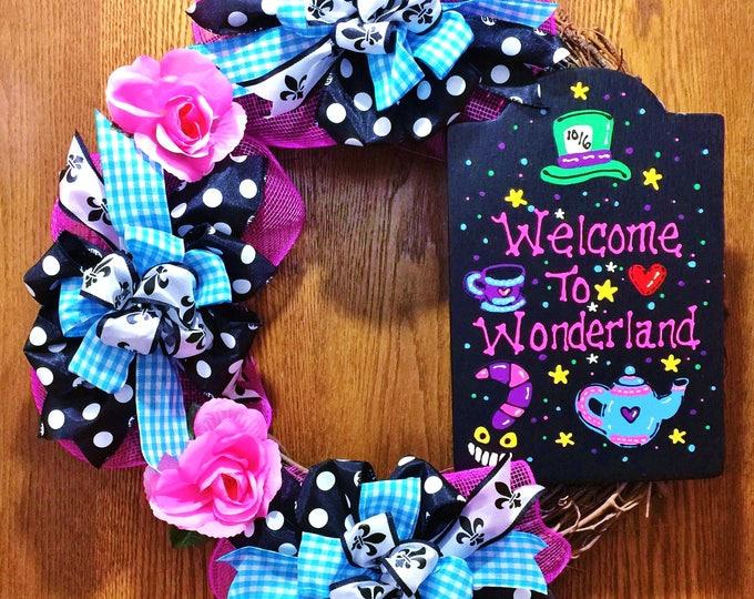Welcome to Wonderland - Welcome Door Wreath