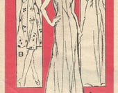 Vintage 70s Prominent Designer Mail Order A304 Misses UNCUT Cut -Away Armhole Evening Dress Sewing Pattern Size 16 Bust 38 By Mr Blackwell