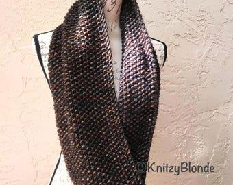 Infinity Scarf Cowl Seed Stitch Luxe Merino Wool Chunky Yarn
