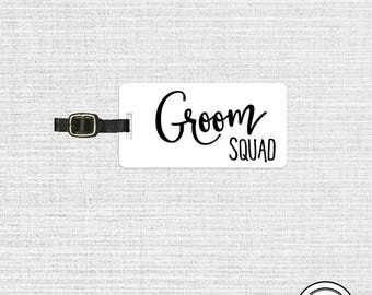 Groom Squad Luggage Tag Metal Tag Single Tag Best Man,  Man of Honor, wedding party titles gift
