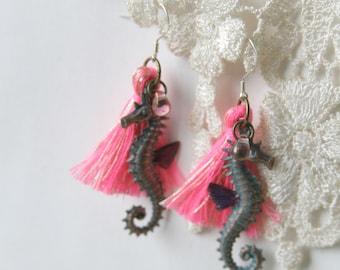 Sea Animal Earrings, Seahorse earrings, Mermaid earrings, Shell earrings, Starfish earrings, Beach jewelry, Bridesmaid jewelry