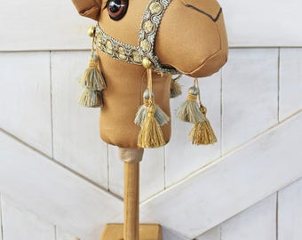 "Camel Ride-On Toy Stick Horse ""Jamal"" Brown Toddler Size Ready To Ship"