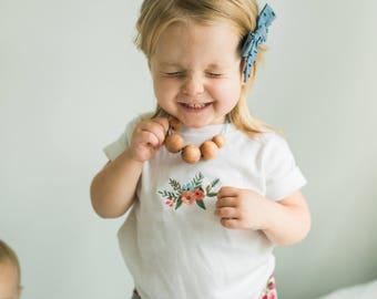 Boho Wooden Bead Toddler Necklace