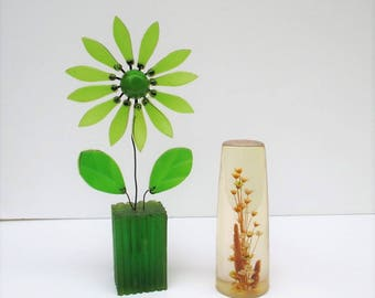 Vintage Tall Resin Flower Display