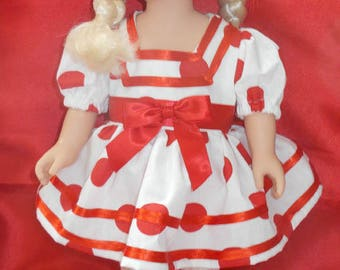 "18 inch Doll Shirley Temple Dress for American Girl and similar size dolls 18"" Doll Dress Matching Shirley Temple Doll Costume Dress"