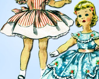 1950s Vintage Simplicity Sewing Pattern 1336 Cute 25 Inch Doll Clothes