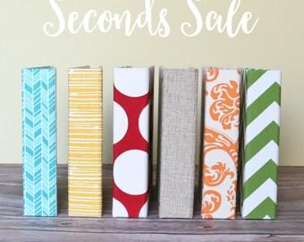 SECONDS SALE// Scrapbook, Gift, Empty Album, Baby Memory Book, Keepsake Book, Albums