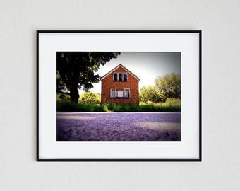 MISSION HOUSE | fine art photo print, landscape, nature, wall art, photography, surreal, road trip, abandoned, summer, travel, michigan
