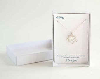 Mother Pearl Necklace - Personalized Mother of the Bride Gift - Mother of the Bride Pearl Necklace - Custom Birthstone Mothers Necklace