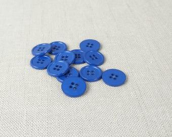 "12 Blueberry Blue 5/8"" (16 mm) buttons"