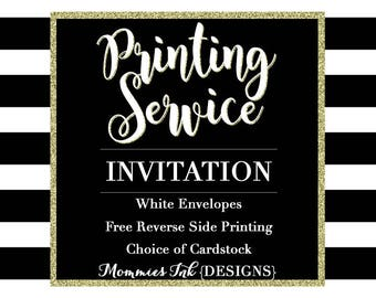 Professional Printing Service for Invitations, Print Services, Invitation Printing Service, Holiday Card Printing Service, Invite Printing