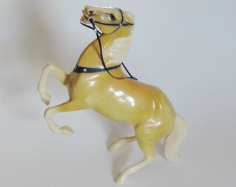 1 Vintage Hartland Plastics Horse - TARGET Annie Oakley's Horse - Collectible 1950s Pony, Girls Birthday Gift, Barbie Sized Doll Horse