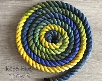 Marble Ombré Rope Dog Leash 16mm / ombre leash / cotton / rope dog lead / long lead / long dog lead / rope leash