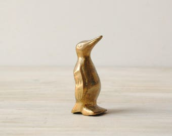 Vintage Brass Penguin Figurine