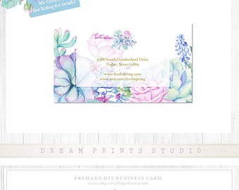 Premade DIY Business Card | Printable Card | Business Set | Business Graphics | Business Card Printable | Editable Card | INSTANT DOWNLOAD