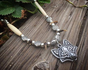 celtic Fox claw necklace