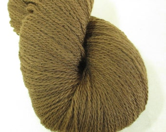 Natural Dye Wool Yarn - Fingering Weight - Plant-Dyed with Foraged Walnut Hulls - Wisconsin Local Color - YAF121706  - 100 grams