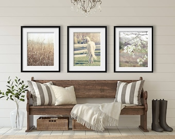 Country Decor, Farmhouse Decor, Rustic Home Decor, Set of 3 Rustic Prints, Rustic Country Landscape Prints, Farm Art Rustic Farmhouse Prints