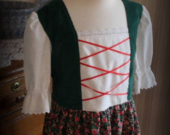 Maria's Austrian Floral Dress Size 7/8 -Ready to Ship