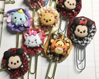 Disney Character Tsum-Tsum Paper Clip Bookmark-Document Faith-Fabric YoYo-Planner Accessories-Bible Journals-Planner Page Bookmark