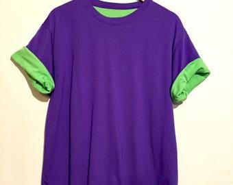 90s Vintage Bright Colors Reversible Tee Shirt medium te05215