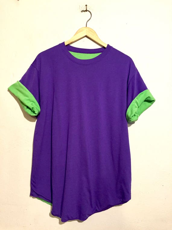 90s Vintage Bright Colors Reversible Tee Shirt