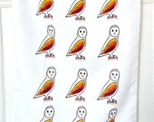Owl Tea Towel, Owl Cloth, Birds, Gifts For Mum, For Her, Kitchen Accessories, Homewares, Barn Owl