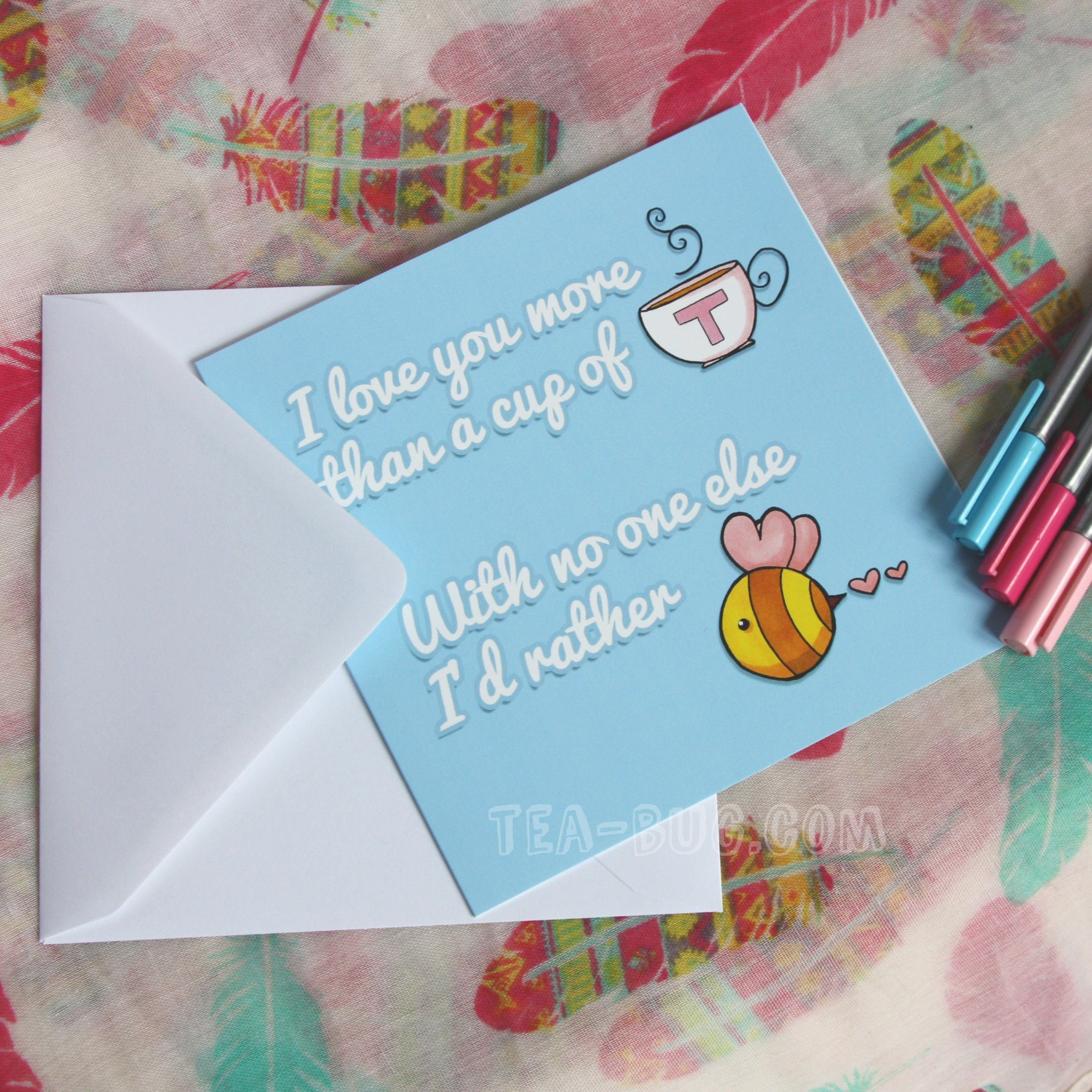 I love you more than blank greetings card note card super blank greetings card note card kristyandbryce Choice Image