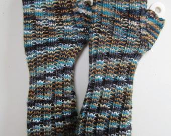 Fingerless Gloves Arm Warmers Texting Hand Knit Long Southwest Wool Womens - Size Medium