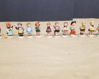 Set of 12 Hummel Like Figurines
