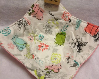 Handmade Microwave Bowl Cozy Heat Pad Floral Small Bowls Insulated