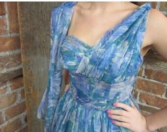 On Sale 1950s-60s  Dress/ Prom Dress/ Grecian Goddess/ One shoulder/ Bombshell Marilyn Monroe love/ Best & Co.