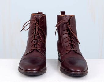 Brown Leather Ankle Boots 90's Cole Haan Women's 8.5 8 1/2 Hipster