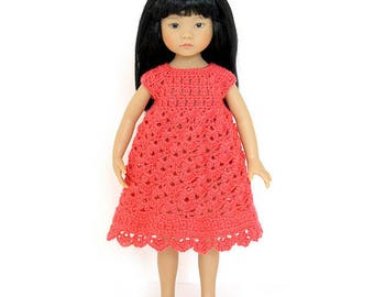 "Download Now - CROCHET PATTERN 13"" Little Darling® Doll Spring Petal Dress"