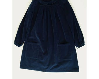 Navy Corduroy Henriette Dress