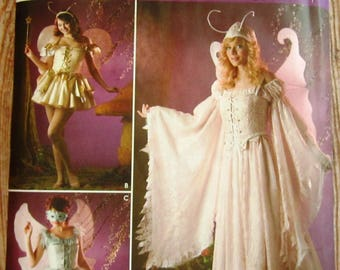 Misses Fairy Costume in 3 Styles Sizes 14 16 18 20 Simplicity Pattern 3675 UNCUT