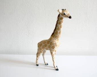 Fur Giraffe Statue