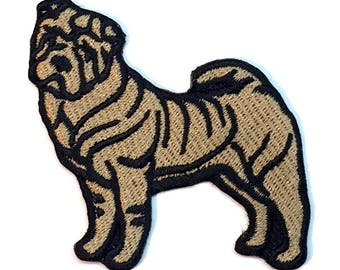 Shar Pei Iron on Patch No Name