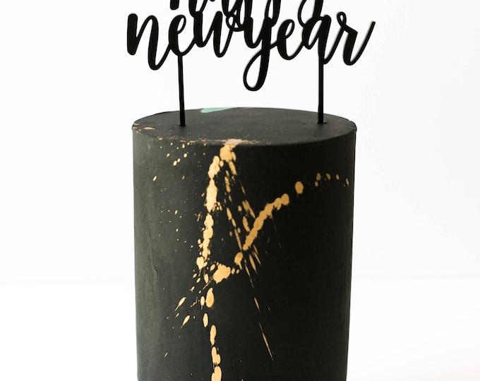 Happy New Year Cake Topper, Laser Cut, Acrylic
