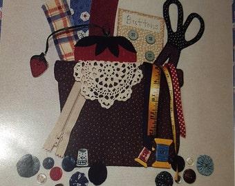 Sewing Basket Applique PATTERN