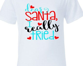 Kids Christmas Tee- Christmas Shirt - Santa Shirt - Kids Christmas Shirt - Girls Christmas Shirt - Holiday Shirt - Holiday Tee - Holidays